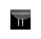 11 november calendar silver and glossy