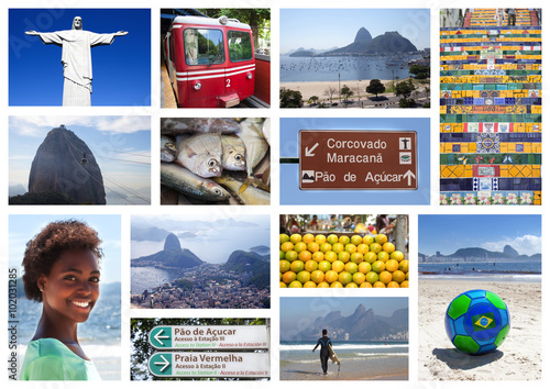 Papiers peints Rio de Janeiro Sammlung mit 13 Motiven aus Rio de Janeiro