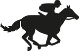Horse race silhouette