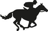 Horse race silhouette