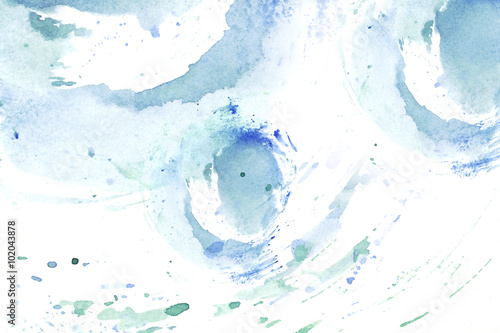 Bright colored watercolor background Poster