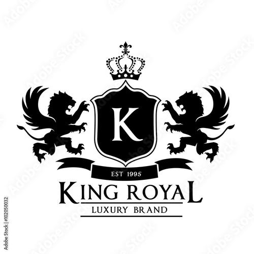 king royal crest logo lion logo king logo crown logo vector logo template stock image and. Black Bedroom Furniture Sets. Home Design Ideas