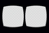 Virtual reality glasses screen frame template.