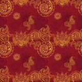 seamless background with Indian patterns