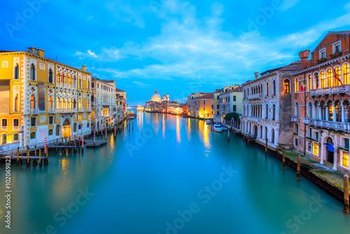 Staande foto Athene Grand Canal and Basilica Santa Maria della Salute, Venice, Italy