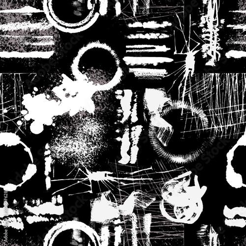 Grunge Texture Seamless Pattern  - 102077628