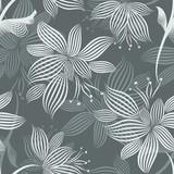 Grey Ornamental Flowers Seamless Pattern - 102090043