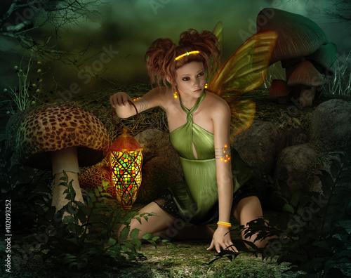 Deurstickers Retro Elven Light, 3d CG