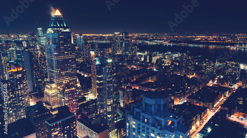 Foto op Aluminium New York New York City skyline at night