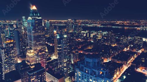 Zdjęcia na płótnie, fototapety, obrazy : New York City skyline at night