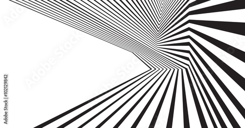 black and white mobious wave stripe optical abstract design © am54