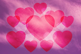 Valentine Sky background , pink , heart