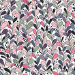 Floral lines. Vector seamless pattern