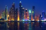 Widok na Dubaj w nocy