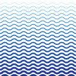Wave Blue Pattern. Sea Background in Vector