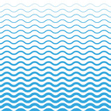 Fototapety Wave Blue Pattern. Sea Background in Vector