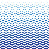 Wave Blue Pattern. Sea Background in Vector - 102206269