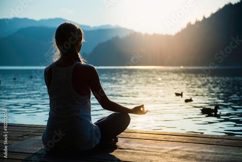 Poster Sunset Meditation