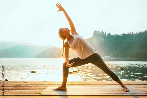 Poster Sonnengruß Yoga