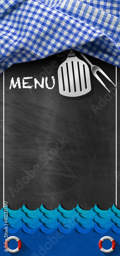 menu-seafood-tablica-z-blue-waves-blackboard