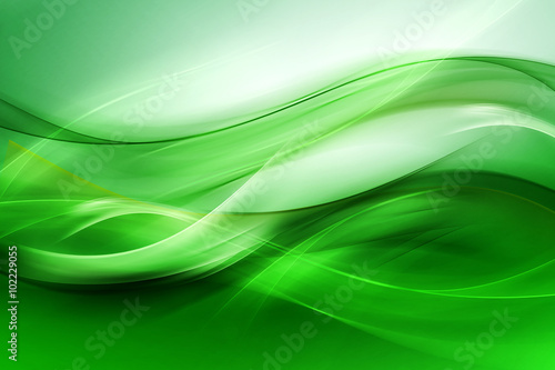 Abstract beautiful motion green background for design. Modern bright digital illustration.
