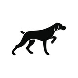 Hunting dog black simple icon