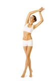 Fototapety Woman Body Beauty, Model Girl Fitness Exercise White Underwear