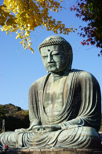 Póster The Great Amida Buddha of Kamakura (Daibutsu) in the Kotoku-in Temple