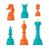 Flat Design Chess Units