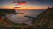 Paradise bay. Amazing sunrise at the Black Sea coast, Bolata bay in Bulgaria.