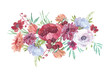 Obrazy na płótnie, fototapety, zdjęcia, fotoobrazy drukowane : floral panel in retro style illustration of a watercolor