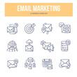E-Mail Marketing Doodle Icons