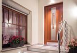 Front door in modern design - 102328620
