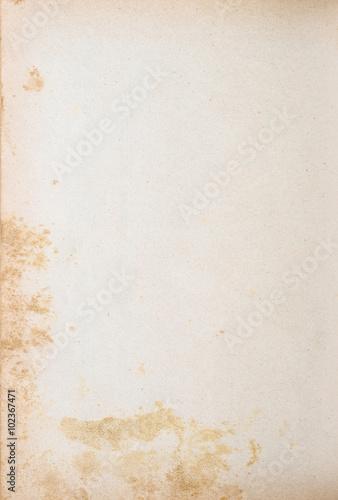 Handgeschöpftes vergilbtes Papier - Retro Hintergrund Poster
