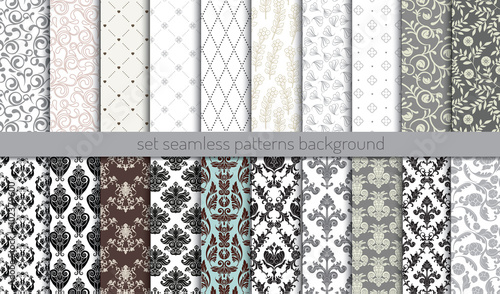 Vector damask seamless pattern background.pattern swatches included for illustrator user, pattern swatches included in file, for your convenient use. - 102379600