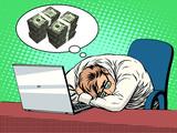Fototapety Businessman dreams of money