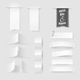 Paper pieces, eps10 vector - 102397412