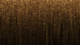 Abstract  background with golden glitter particles.
