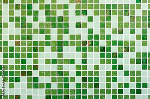 Green glass mosaic texture background