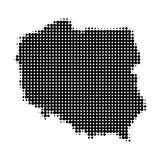 Fototapety Poland in halftone pattern vector