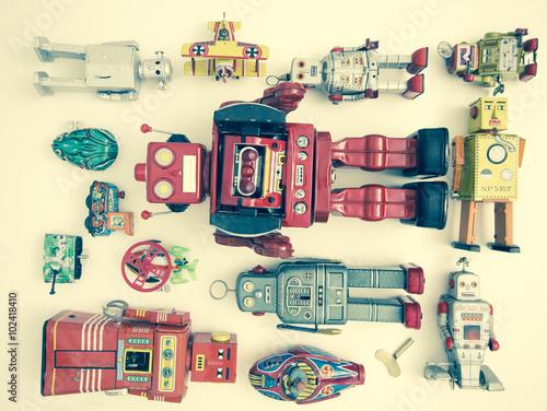 Foto op Canvas retro toys