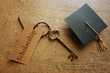 Scholarship key and cap