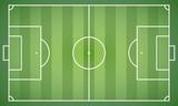 Fußballfeld - Vektorgrafik