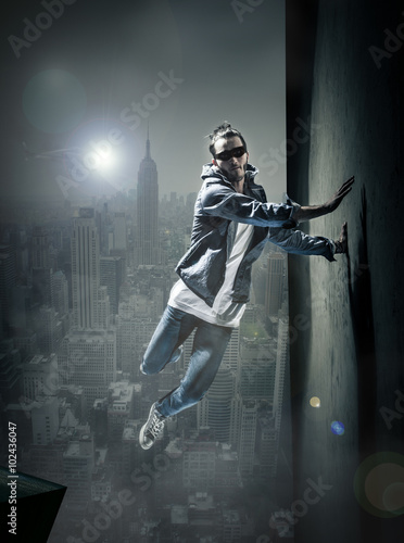 Concept super héros danse hip hop Poster