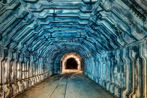Foto op Plexiglas Kiev Interior of tunnel in abandoned coal mine