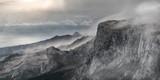 Surrealistic mountain landscape