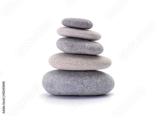 Spa stones isolated on white background