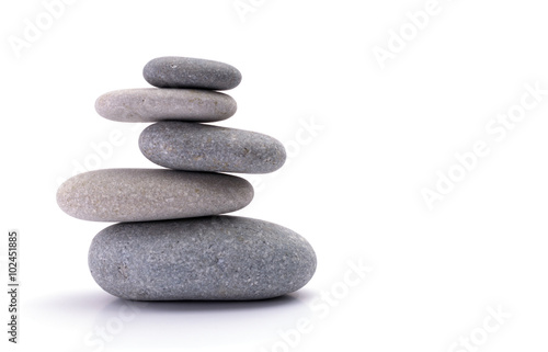 Spa stones isolated on white background - 102451885