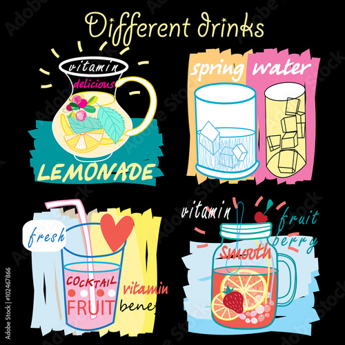 Different fruit drinks - 102467866