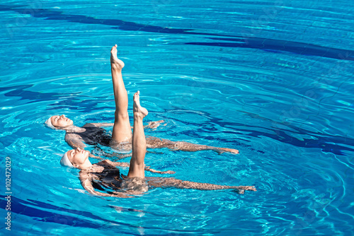 Poster Synchronized swimming